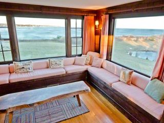 Chilmark house photo - The Living Room Looks Out In Two Directions -- Toward Squibnocket & Stonewall Beaches As Well As South Over The Ridge Of Squibnocket Farm