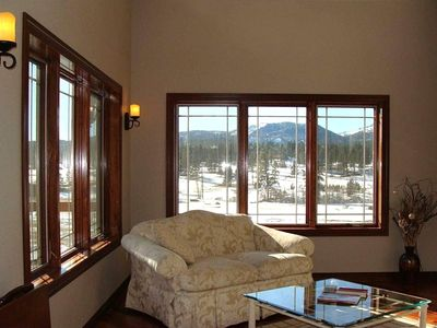 Sunroom with mountain view