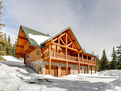 home rental wicker the creel homeaway breckenridge log cabins cabin pin