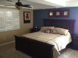 "Palm Springs house photo - Master Bedroom with California King Bed and 40"" Flat Screen TV"