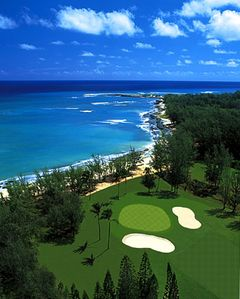 Arial View of Turtle Bay Golf Course