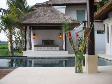 Ubud villa rental - Private Swimming Pool and Outdoor Bale