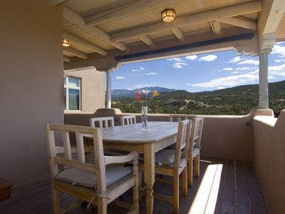 Santa Fe house rental - Outdoor Dining Table w/ Views