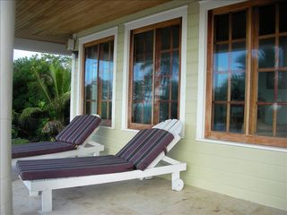 Ambergris Caye house photo - lounge on the veranda