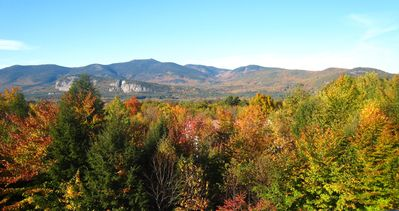 Peak foliage view from our private deck