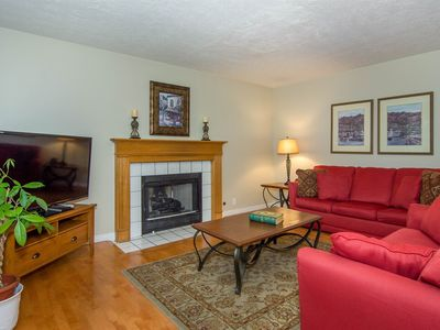 FAMILY ROOM OFF KITCHEN (FIREPLACE, LG FLATSCREEN TV)