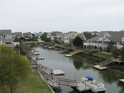 view of canal from back deck