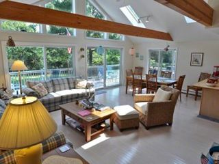 Katama house photo - Martha's Vineyard Vacation Rentals Katama Beach House: Great Room Features Open Living & Dining Areas With Wall Of Glass Windows & Doors
