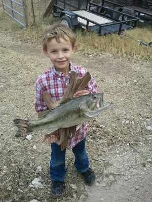 Bass caught at our house!