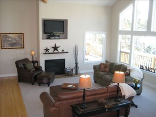 "Eagle Crest house photo - The upstairs living room with a 42"" LCD LG TV, Perfect for the big game!."