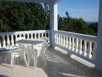 Rincon house rental - Decks with ocean views all the way to Agadilla, Gas Weber grill not pictured