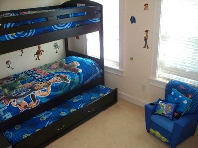 The Toy Story Room. Meant for kids, but adults are welcome.