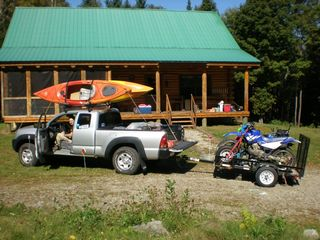 Milan cabin photo - All ready to go motorbiking and kayaking at Jericho State Park.-5 miles away