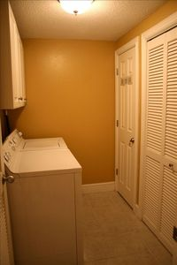 Large Laundry Room with Full Size Washer and Dryer for your convenience!