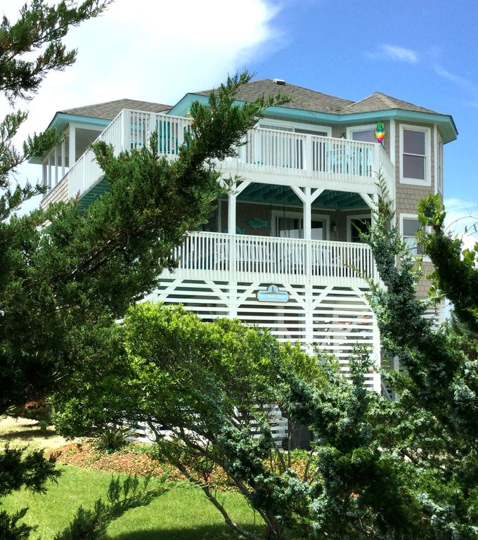 HGTV GORGEOUS 4 BR / 2 BA ~ LUXURY SEMI OCEANFRONT COTTAGE VIEWS POOL/PUTT PUTT