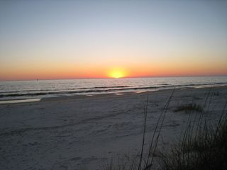 Mexico Beach mobile home photo - Sunset from beach 1.5 blocks from vacation home
