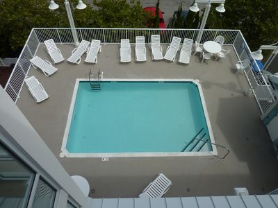 Pool, Lounge Deck, Outdoor Shower and Bathrooms