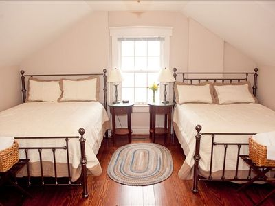Upstairs room with 2 very comfortable queen beds