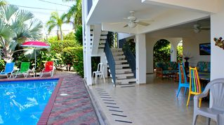 Rincon house photo - Poolside patio