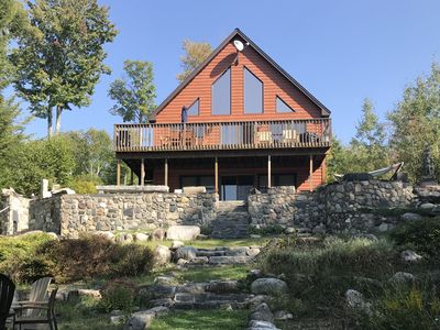 Beautiful year round lakefront home on crystal clear Great Moose Lake