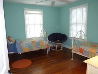 Rehoboth Beach house photo - Bedroom with two twin beds, and an additional trundle bed