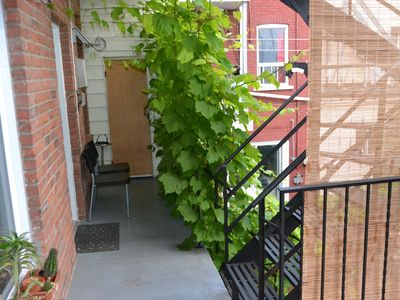Montreal apartment rental - Backyard Smoking area Fumoir balcon extérieur