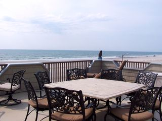 North Wildwood condo photo - Huge Main Deck Room For 20+; Grill House-fed Gas Awning+Umbrella