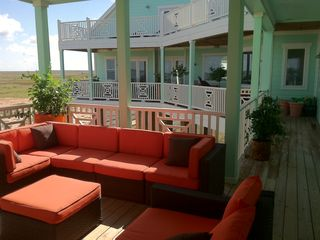 Galveston villa photo - Second view of the second outdoor sitting area on the main deck