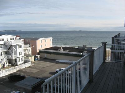 Old Orchard Beach condo rental - Deck off the Living Room and Second Bedroom