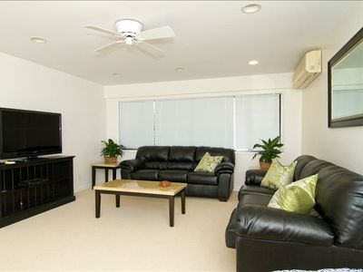 Relax in the comfort and luxury of the TV room