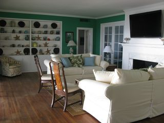 Ponte Vedra Beach house photo - Upstairs living room w/beautiful view of the ocean and marsh