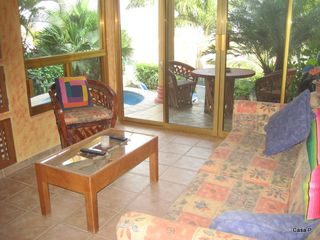 La Cruz de Huanacaxtle house photo - Living Area with view of Dipping Pool, Lounging Area and Bay of Banderas