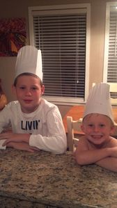 Chefs Relaxing at the Kitchen Counter