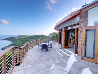 Hilltop deck with expansive views