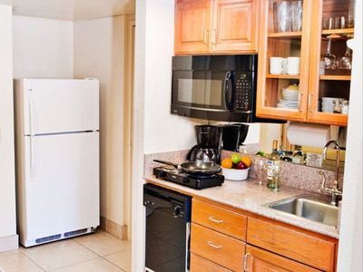 Kitchenette in a Two Bedroom Unit at the Coronado Beach Resort