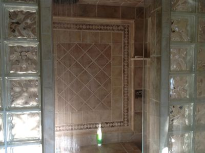 Master bath shower.