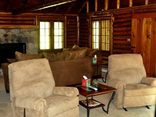 "Atlanta lodge photo - Duel recliners by 50"" Plasma TV"