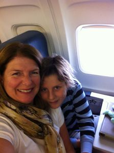 Ruthan & Maui on flight over. We flew Delta.. Awesome crew & flight. 1/1/13