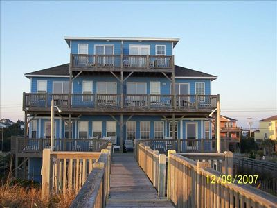 Emerald Isle house rental - RIGHT SIDE OF DUPLEX which is east side, shaded in late afternoon