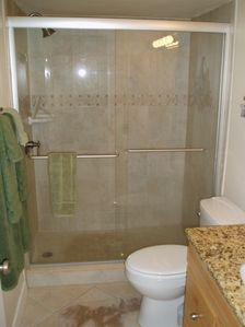 New walkin tiled shower, 1103