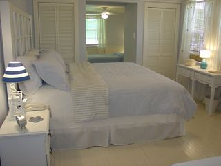 Seagrove Beach house photo - Charming Master Suite with Ajoining Twin Bedroom 'Nook'.