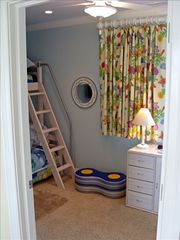 Virginia Beach house photo - Bunk Rm - A fun room - HD TV/DVD