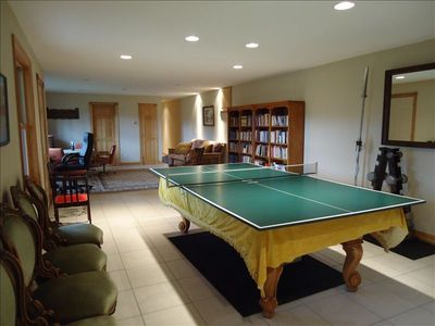 Table Tennis and Pool table