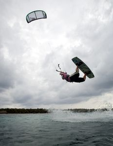 kitesurf action at the island