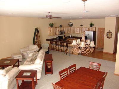 Great Room area 10' Ceilings and a great view of Castle Rock Lake