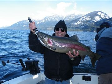 Fishing is great on the Arrow Lakes! Caught in December 2010.