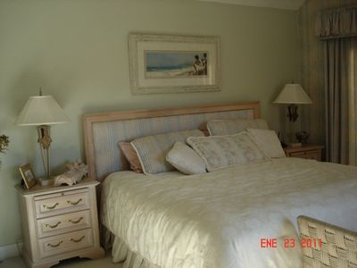 King Size Master Bedroom with large bathroom including double sinks