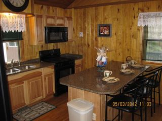 Munising chalet photo - New, fully stocked kitchen, quartz countertops, new appliances
