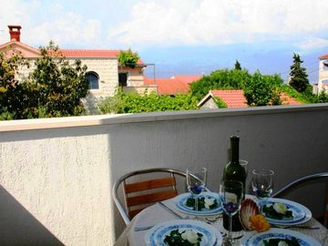 Supetar apartment rental - Balcony with sea view