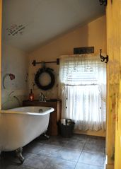 New Braunfels estate photo - Main Bath With Shower and Claw Foot Tub